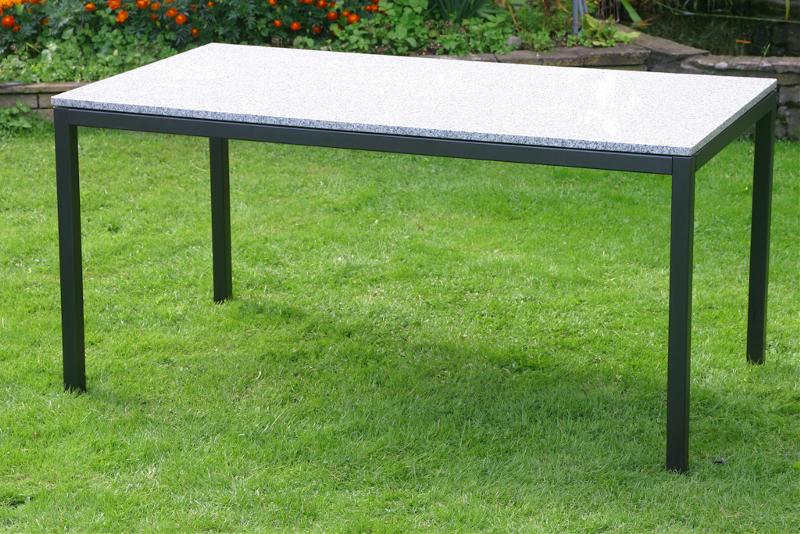 granittisch elba braun 160x80 cm gartenm bel fritz m ller gmbh. Black Bedroom Furniture Sets. Home Design Ideas